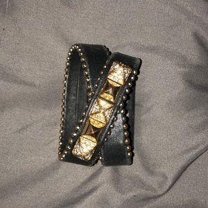Juicy leather wrap around bracelet
